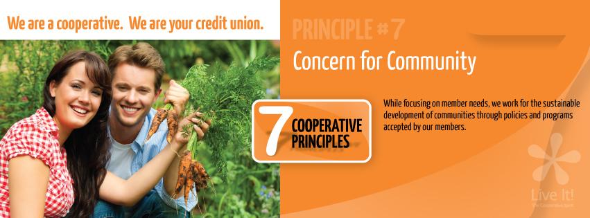 Co-op Principle #7- Concern for Community